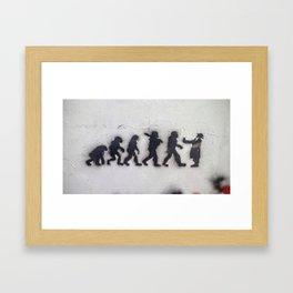 Tel Aviv Street Art / Religion Evolution Framed Art Print