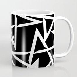 Interlocking White Star Polygon Shape Design Coffee Mug