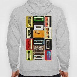Retro Music Cassette Tapes - In Color Hoody
