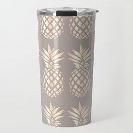 Pretty copper rose gold pineapple Travel Mug