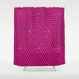 Jazzberry jam - violet - Modern Vector Seamless Pattern Shower Curtain