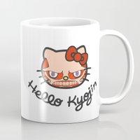 shingeki no kyojin Mugs featuring HELLO KYOJIN by emperorofruin