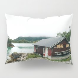 Fisher man house in Norway Pillow Sham