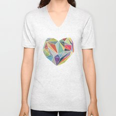 Heart Graphic 5 Unisex V-Neck