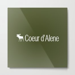 Coeur d'Alene Moose Metal Print