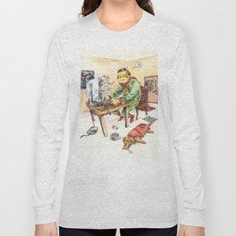Hero and his Superdog Long Sleeve T-shirt