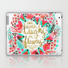 The Earth Laughs in Flowers – Pink & Gold Laptop & iPad Skin