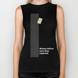 Lab No. 4 - Always Deliver More Than Expected Motivational Typography Quotes Poster Biker Tank