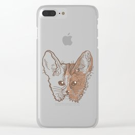 Fennec fox face Clear iPhone Case