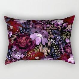 Deep Floral Chaos Rectangular Pillow