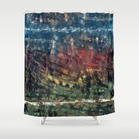 jungle Shower Curtains featuring jungle by gasponce
