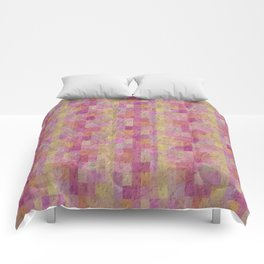 Soft Textured Muted Checkerboard Pattern Comforters