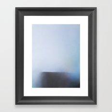 Strata - Blue seascape abstract art Framed Art Print