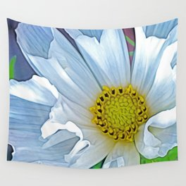 Cosmos white (Digital Art) Wall Tapestry