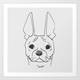 BOSTON TERRIER - DOG SERIES NO.003 Art Print