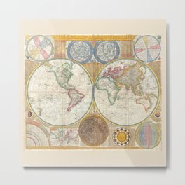 A General Map of the World - Laurie 1794 Metal Print