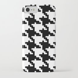 Black White Houndstooth iPhone Case