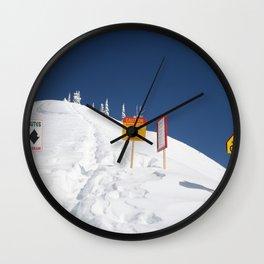 Signs Of Danger Wall Clock