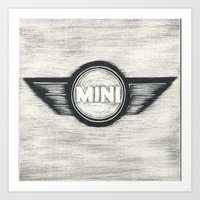 Mini Cooper Logo Art Print