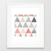 triangle Framed Art Prints featuring Triangle by samedia