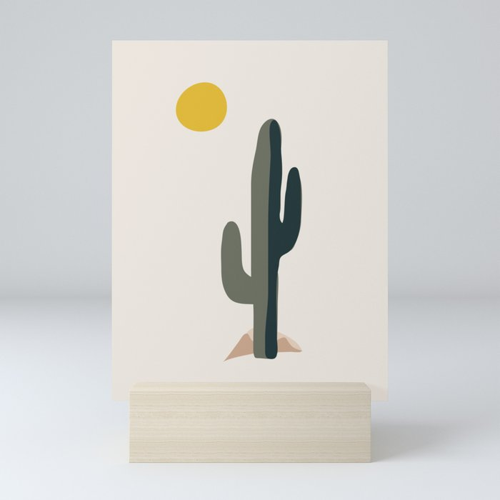 Cactus and the Rising Sun Mini Art Print