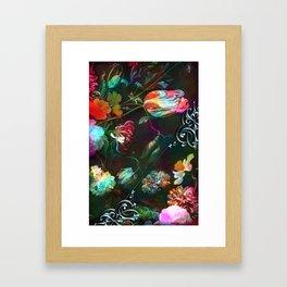 Acid still life floral Framed Art Print