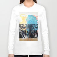 tigers Long Sleeve T-shirts featuring YAWNING TIGERS by Brandon Neher