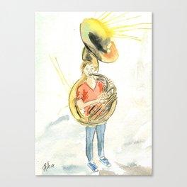 The sousaphone girl Canvas Print