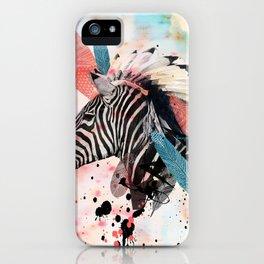 Zebra Chief iPhone Case