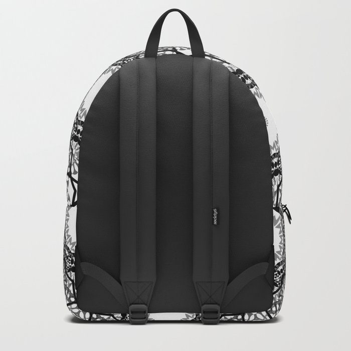Black and white ornament . 7 Backpack