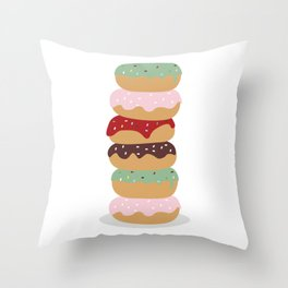 Mountain of Donuts in my Dream Throw Pillow