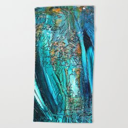 Doodle in blue Beach Towel