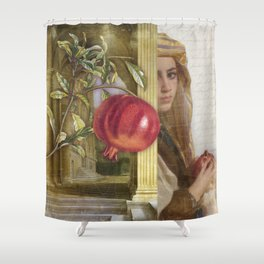 The Pomegranate Eater Shower Curtain