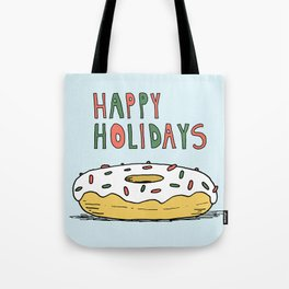 Holiday Donut Tote Bag