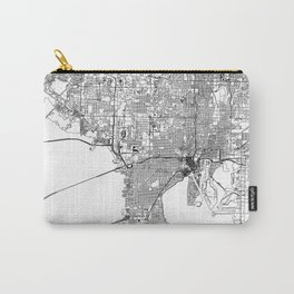 Tampa White Map Carry-All Pouch