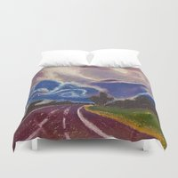 road Duvet Covers featuring Road by Shazia Ahmad