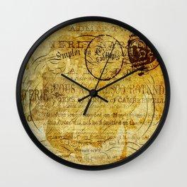 Postcard Lettre 5 Wall Clock