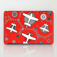 airplanes iPad Cases featuring airplanes in red by Isabella Asratyan