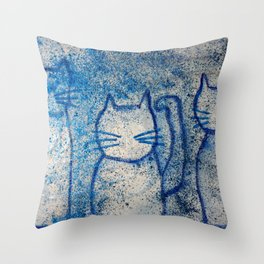 Cosmic cats Throw Pillow
