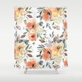 Peachy Keen Pattern Shower Curtain