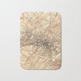 Vintage Map of Charlottesville Virginia (1960) Bath Mat