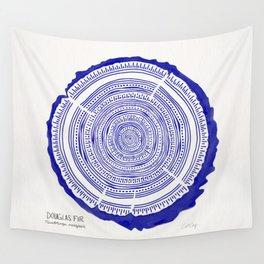 Douglas Fir – Navy Wall Tapestry