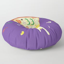 Pizza Slice for National Pizza Day Floor Pillow