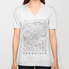 Nashville Map Line Unisex V-Neck
