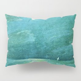 Classical Masterpiece 'Moonlight on the Sound' by Frederick Childe Hassam Pillow Sham
