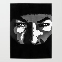 RIP Nicky Hayden 69 - black and white helmet portrait popart Poster
