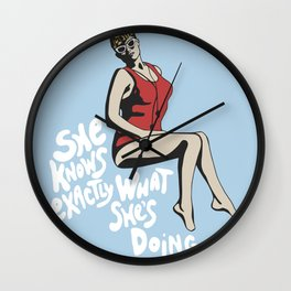 Wendy Peffercorn - She knows exactly what she's doing Wall Clock