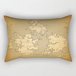 Gaia Midgar Final Fantasy VII Map Rectangular Pillow