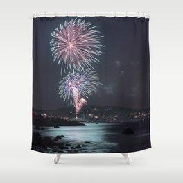 Rockport Firework at Old Garden Beach Shower Curtain