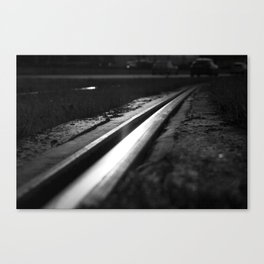 Abstract view on the railroad Canvas Print